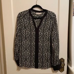 Tory Burch black and white blouse